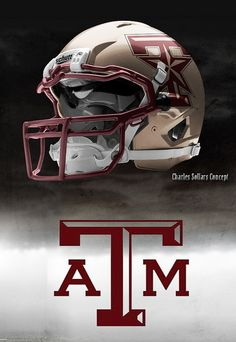 """Texas A & M """"concept only"""" Helmets by Nike Pro Combat. I think the tan one is sharp. January 2012  http://www.flickr.com/photos/fourteen85/sets/72157629131431403/"""