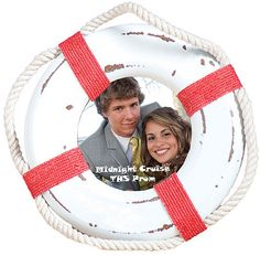 Send your nautical party guest home with nautical lifesaver frames as keepsakes. Create a nautical themed photo booth with fun nautical hats and send your guests party photos after the party to add to their frames.
