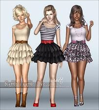 Store The Sims 3 : Vestido Ruffle Truffle Sims 3 Mods, Sims 1, Sims 3 Cc Finds, Sims 3 Games, Puffy Dresses, Virtual Fashion, Teen Girl Outfits, The Sims4, Sims 4 Custom Content