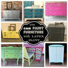 32 DIY Furniture Makeovers using milk paint, acrylic etc. follow through to the blog for the how-to. Amazing furniture up-cycle, repurposing!