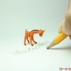 micro #crochet art by Lam Linh