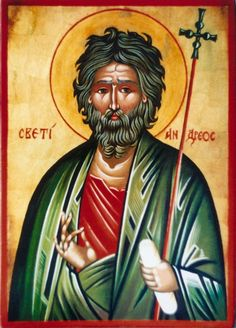 St. Andrew Religious Images, Religious Icons, Icon Meaning, Roman Church, Byzantine Icons, Orthodox Christianity, St Andrews, Orthodox Icons, Mother Mary