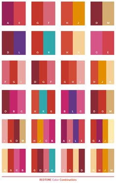 Color Schemes | Red tone color schemes, color combinations