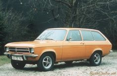 Opel station wagon. We had one in Yellow and another in Silver. Was the BEST car for Family roadtrips!