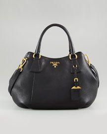 Prada Daino Medium Shoulder Tote Bag, Nero--I'll take it in black.