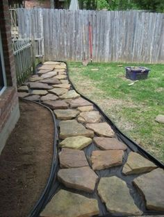 55 Beautiful Rock Garden Ideas for Backyard and Front Yard - Page 9 of 50 Front Yard Landscaping, Backyard Patio, Landscaping Ideas, Backyard Ideas, Walkway Ideas, Sloped Backyard, Modern Backyard, Front Yard Walkway, Nice Backyard