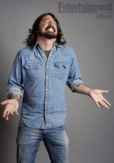 """Director and musician Dave Grohl at Sundance for the premier of his film, """"Sound City."""""""