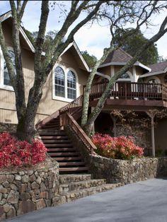 Outdoor back stairway