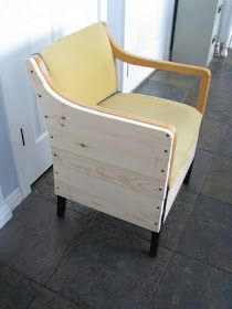 I got two of these chairs from the Restore a few years ago. I painted and recovered one of them. I liked it better, but it was s. Office Chair Makeover, Dining Chair Makeover, Furniture Makeover, Diy Furniture, Furniture Making, Office Furniture, Furniture Refinishing, Recover Office Chairs, Office Waiting Room Chairs