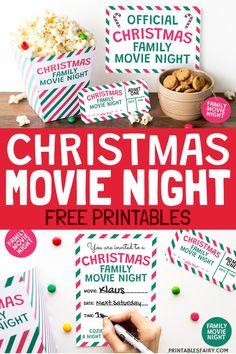 Christmas Movie Night (Free Printables!)