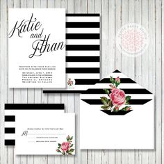 Wedding Invitation Set by Petite Party Studio by PetitePartyStudio, $33.00