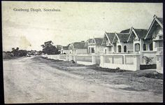 Gubeng Jepit estate, about 130 hectares, across the river from Simpang New Housing Developments, Dutch East Indies, Dutch Colonial, Old Building, Surabaya, Java, Old Houses, The Past, Old Things