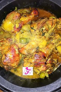 Famar Recipes: Chicken tagine with preserved lemons and olives … Source by lesrecettesdefamar Authentic Mexican Recipes, Mexican Food Recipes, Healthy Recipes, Ethnic Recipes, Dinner For 2, Chicken With Olives, Health Dinner, Candied Lemons, Tamarin