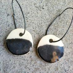 ceramic earrings by mbartstudios on etsy