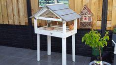 Vogelhuis van restjes hout made by silvia