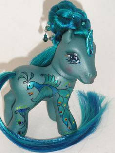 Pretty as A Peacock Custom OOAK My Little Pony available for sale in my etsy store https://www.etsy.com/shop/RainbowDarkCreations