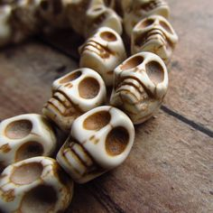 Bone Style Skull Beads