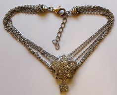 Sterling Silver Multi Strand Star Bracelet with Clear by onetime, $13.25