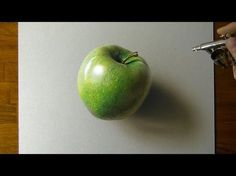 Drawing a Green Apple - How to draw 3D art - YouTube