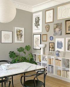 New Interior Design, Apartment Interior Design, Interior Design Inspiration, Home Decor Inspiration, White Wall Decor, Room Wall Decor, Vintage Room, Dining Room Design, Minimalist Home