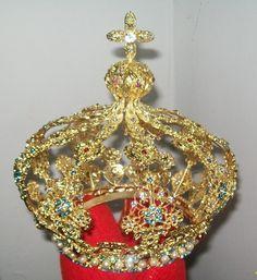 Coroa Grande,folheada A Ouro Puro,frete Grátis, Só R$1.105