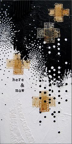 here & now.  mixed media painting on canvas.  anca gray.  2012.