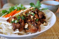 Vietnamese Grilled Pork  http://theculinarychronicles.com/2010/08/20/bun-th%e1%bb%8bt-n%c6%b0%e1%bb%9bng-vietnamese-grilled-pork-over-vermicelli-noodles/