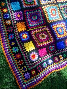 Ideas Crochet Afghan Squares Patchwork Blanket Knitting Patterns For 2019 Crochet Squares Afghan, Granny Square Crochet Pattern, Crochet Blanket Patterns, Crochet Motif, Granny Squares, Crochet Granny, Knit Patterns, Crochet Afghans, Crochet Blankets