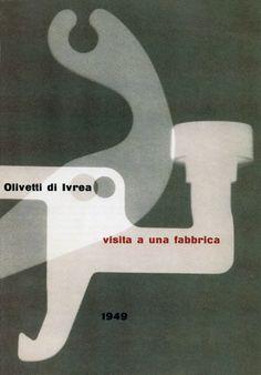 Albe Steiner - Brochure for Olivetti, 1949.