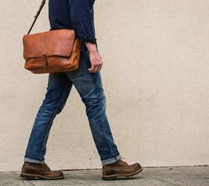 The Vintage Messenger Bag by Whipping Post is a tribute to antique postal bags, albeit an updated, leaner version that includes a suede-lined laptop compartment. Vintage Leather Messenger Bag, Leather Briefcase, Leather Satchel, Leather Backpack, Fashion Night, Leather Men, Custom Leather, Leather Bags, Brown Leather