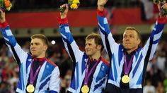 Philip Hindes, Jason Kenny and Sir Chris Hoy - Men's Team Sprint Cycling Track Gold