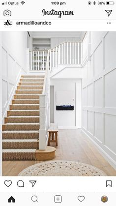 Hamptons style beach house renovation is part of home Renovation Stairs - Ralph Lauren played a part in this beach house renovation, but so did the Hamptons and classic European design Take a tour of this lightfilled home Coastal Living Rooms, Coastal Homes, Coastal Decor, Coastal Style, Coastal Curtains, Coastal Rugs, Coastal Bedding, Coastal Farmhouse, Coastal Furniture