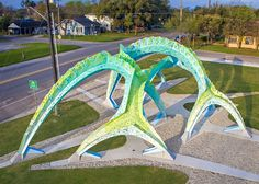Marc Fornes creates sculptural installation for a Texas park