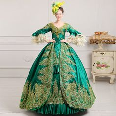 >> Click to Buy << DisappeaRanceLove Brand Hot Sale Elegant green long Sleeve Bow Victorian Dresses Women's Victorian Ball Gowns dress For Party #Affiliate