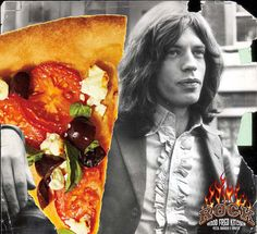 70 Pictures Of Mick Jagger Eating Pizza On His 70th Birthday
