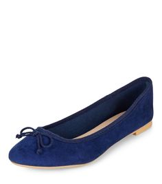 Blue Suedette Ballet Pumps | New Look