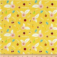 Riley Blake Sweet Orchard Fruit Yellow