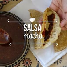 Salsa macha, Desserts, Accompany the dishes that you like the most with this delicious handmade sauce recipe. Authentic Mexican Recipes, Mexican Salsa Recipes, Mexican Dishes, I Love Food, Good Food, Yummy Food, Sauce Kebab, Cooking Time, Cooking Recipes