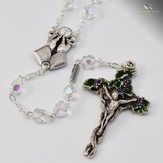 Holy Eucharist silver plated Rosary