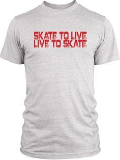 Big Texas Skate to Live (Red) Vintage Tri-Blend T-Shirt