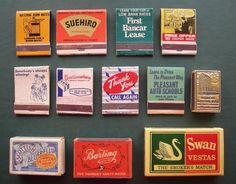 Vintage Matchbooks & Matchboxes