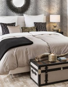 »African Glam« Luxuriöses Safari-Feeling entsteht in der gedeckten Farbwelt aus Beige, Grau und Schwarz