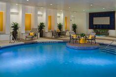 Sheraton Albuquerque Uptown Hotel #blue #yellow #indoorpool