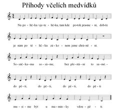 Noty k písničce Příhody včelích medvídků - klikni pro zvětšení Piano Score, Music Score, Piano For Sale, Celtic Music, Music Do, Kalimba, Kids Songs, Music Lessons, Music Notes