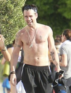 Pin for Later: Age Is Just a Number: Count the Years in Shirtless Guys 38: Colin Farrell