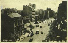 Bucuresti unde acum e MacDonald bloc Casata si statuie Nae Ionescu