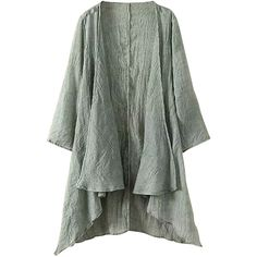 Pink Queen Green Irregularly Plain Plus Size Womens Cape Blazer ($20) ❤ liked on Polyvore featuring outerwear, jackets, blazers, green, green cape, green cape coat, green blazer, cape blazer and plus size cape coat