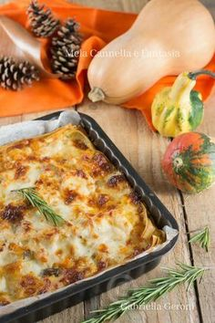 lasagna autunnale My Favorite Food, Favorite Recipes, Best Italian Recipes, Italian Cooking, Special Recipes, Saveur, Ravioli, Gnocchi, Lasagna