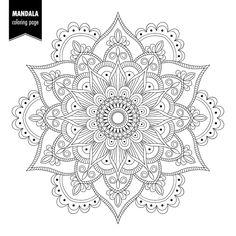 Illustration about Monochrome ethnic mandala design. Anti-stress coloring page for adults. Illustration of decorative, adult, monochrome - 103615545 Mandala Doodle, Mandala Sketch, Mandala Dots, Mandala Drawing, Flower Mandala, Mandala Pattern, Zentangle Patterns, Mandala Elephant, Doodle Doodle