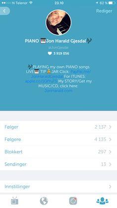 #periscope https://www.periscope.tv/JonGjesdal Piano classical music